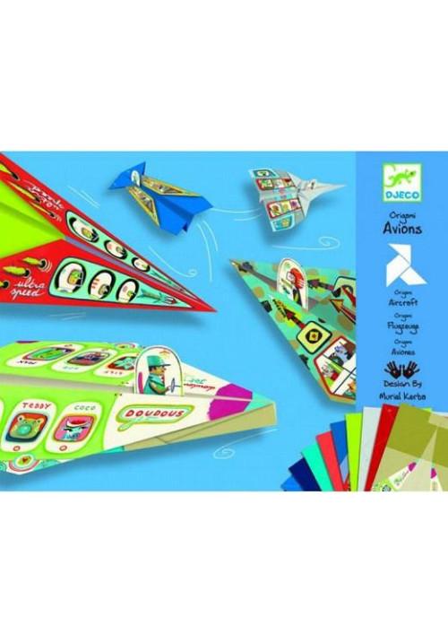 Aviones origami